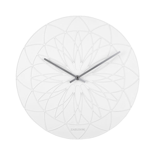 Fairytale Patterned Wall Clock - White