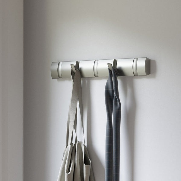 Flip 5 Wall Hooks - Nickel