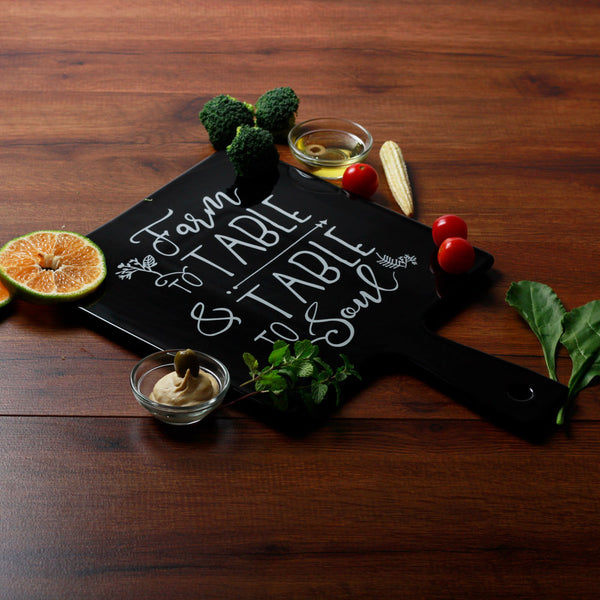 Farm to Table Square Serving Paddle - Black