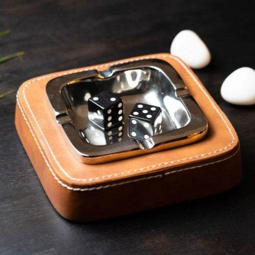 Faux Leather Ash Tray