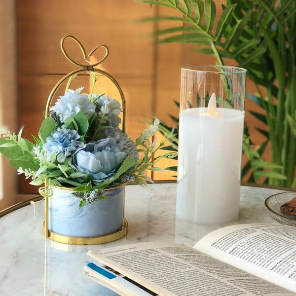 Paris Fleur Bunch Small - Sky Blue