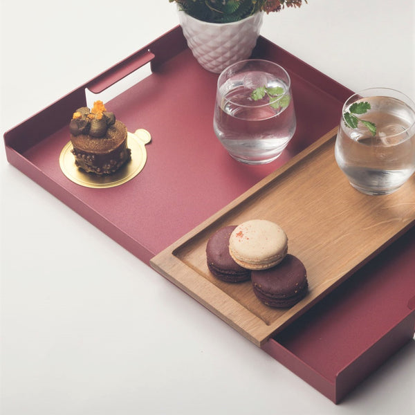 Flint Serving Tray, Large - Brick Red