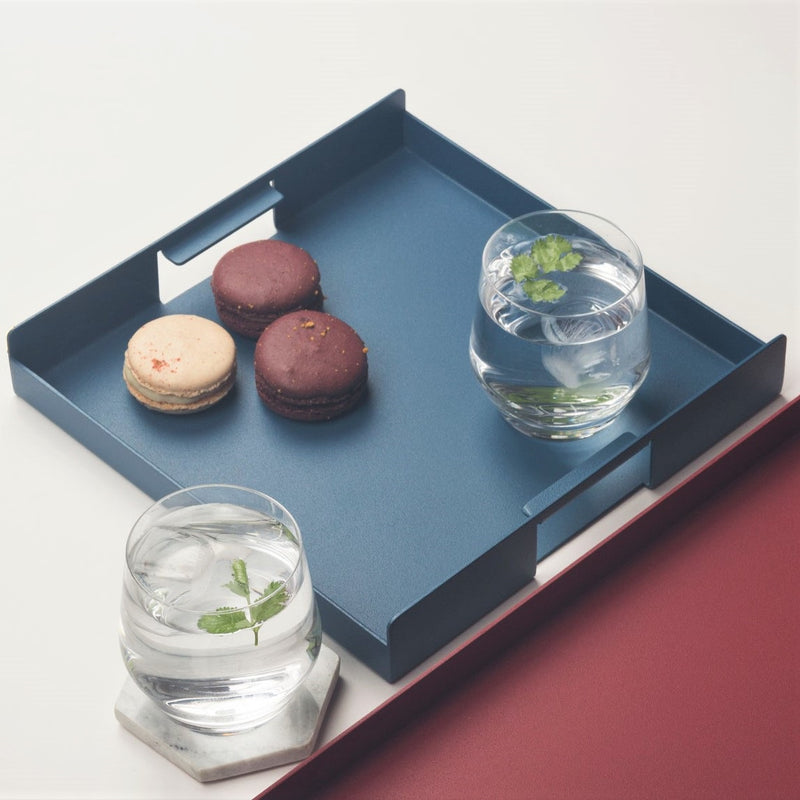 Flint Serving Tray, Small - Blue