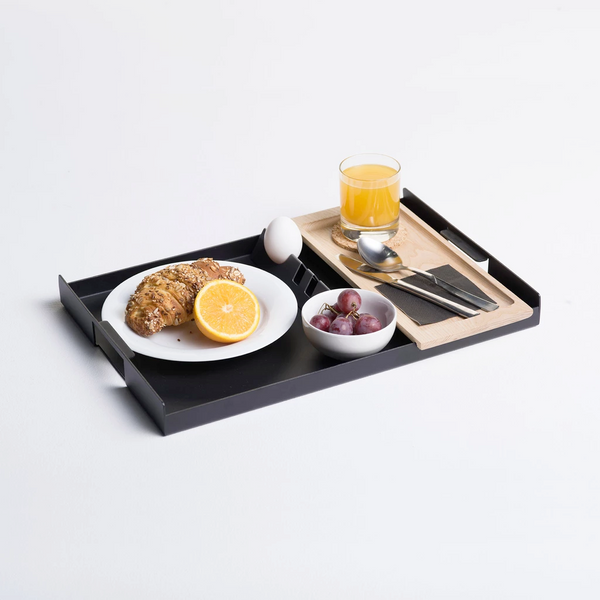 Flint Serving Tray, Large - Black