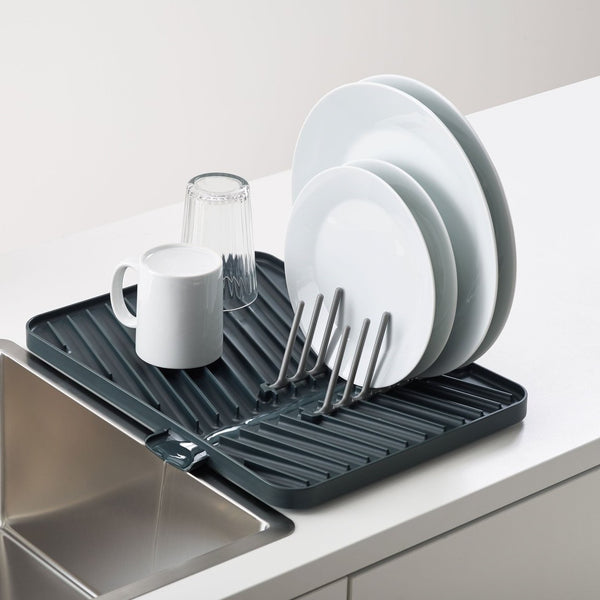Flip-Up Draining Board with Plate Rack