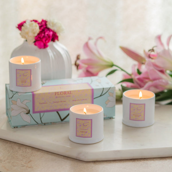 Floral Collection - Set of 3 Candles