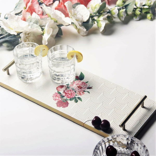 Patterned Long Tray - Floral