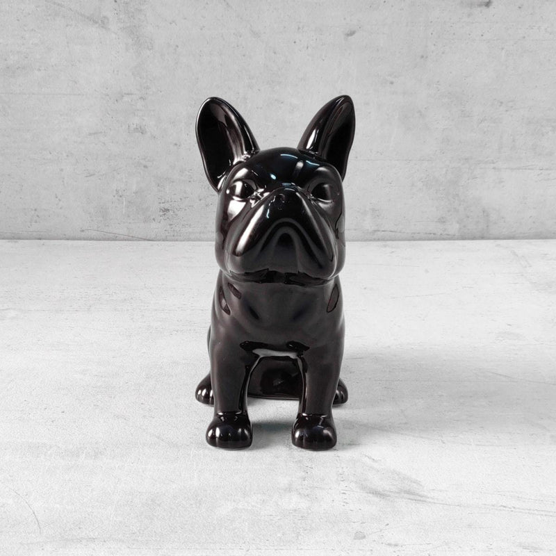 Andy French Bull Dog Sculpture - Black