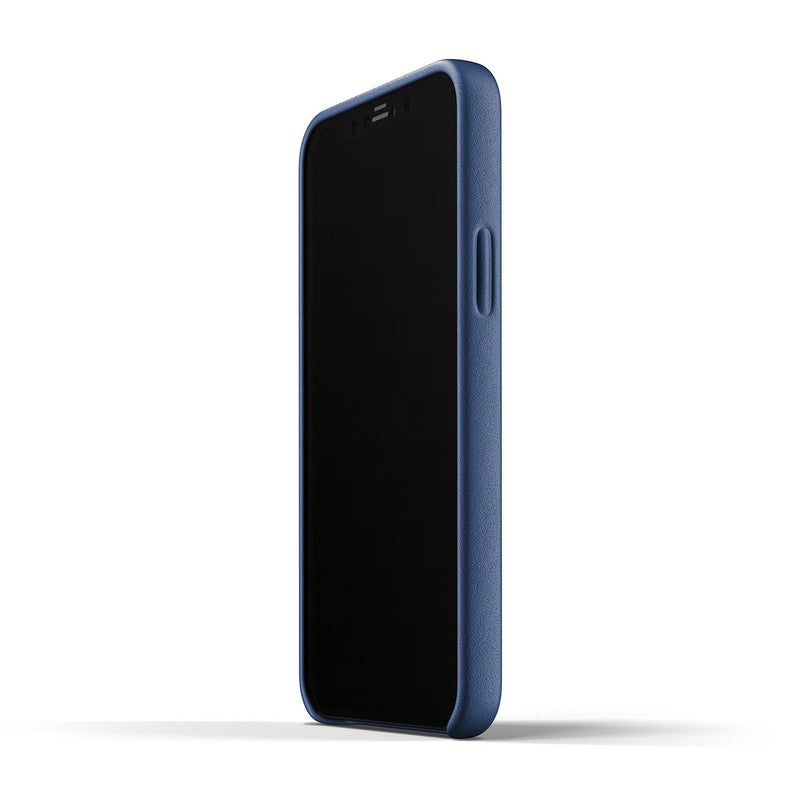 Full Leather Case for iPhone 12 & 12 Pro - Monaco Blue