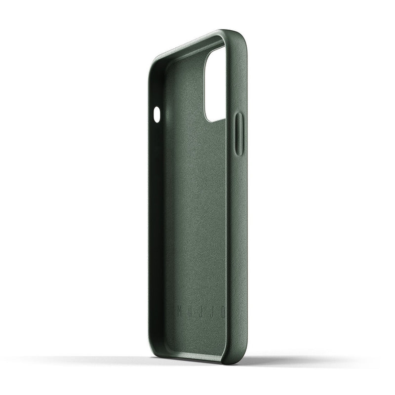 Full Leather Case for iPhone 12 & 12 Pro - Slate Green