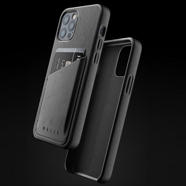 Full Leather Wallet Case for iPhone 12 & 12 Pro - Black