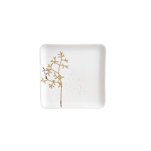 Porcelain Trinket Dish - Gold Branch