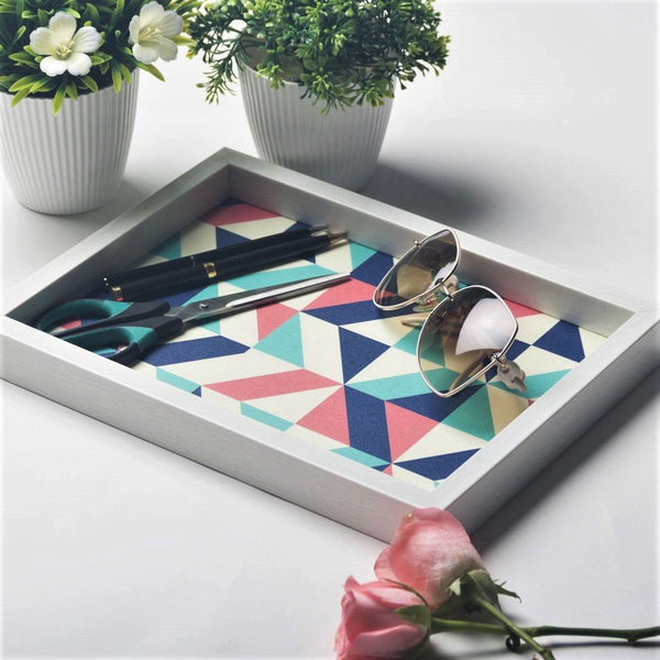 Patterned Desk Tray - Geometric