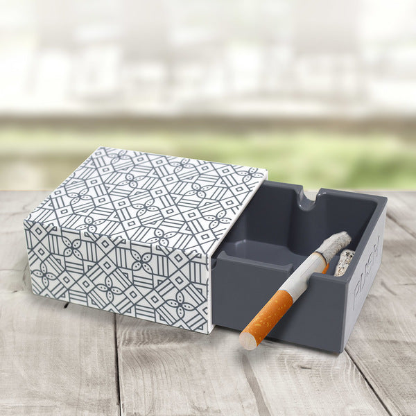 Push Ash Tray - Geometric Pattern