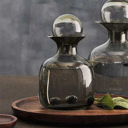 Glass Water Carafe Grey Modern Quests