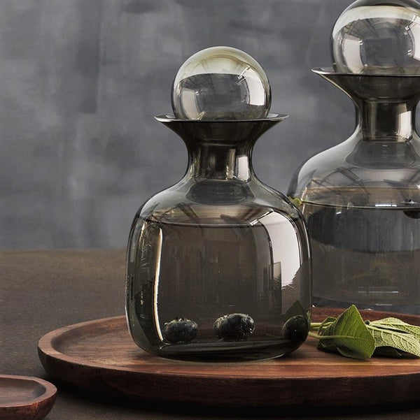 Glass Water Carafe - Grey