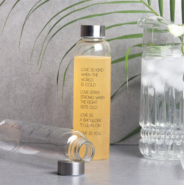 Essential Glass Bottle with Stainless Steel Lid