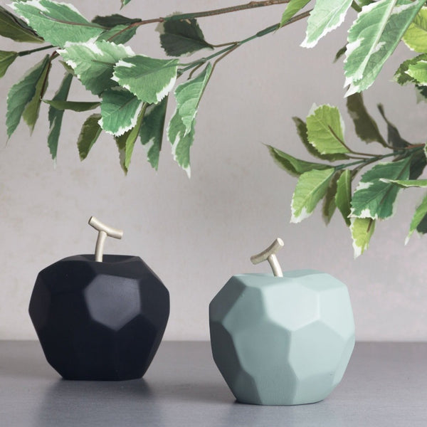 Origami Faceted Apple - Jade Green