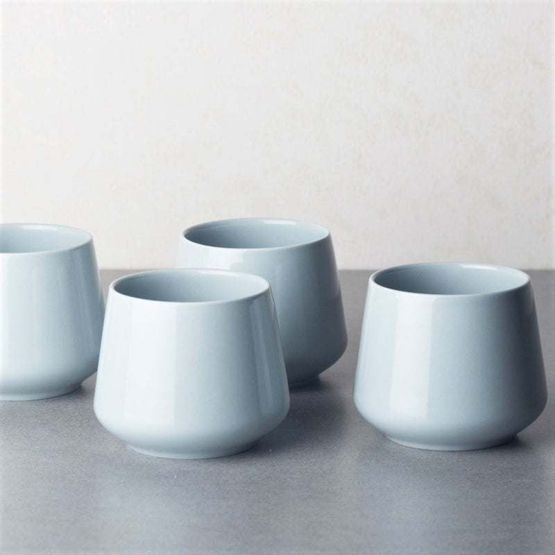Zen Porcelain Cups Green, Set of 4