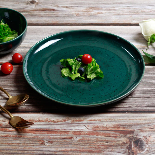 Seasons Dinner Plate - Olive Green