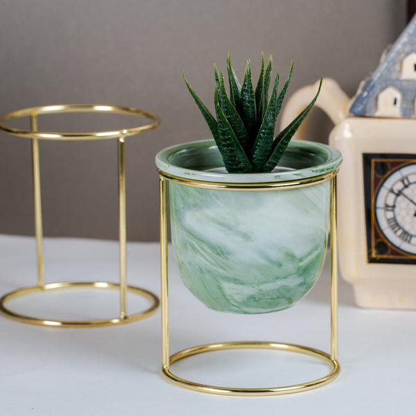 Oasis Tabletop Small Planter - Green