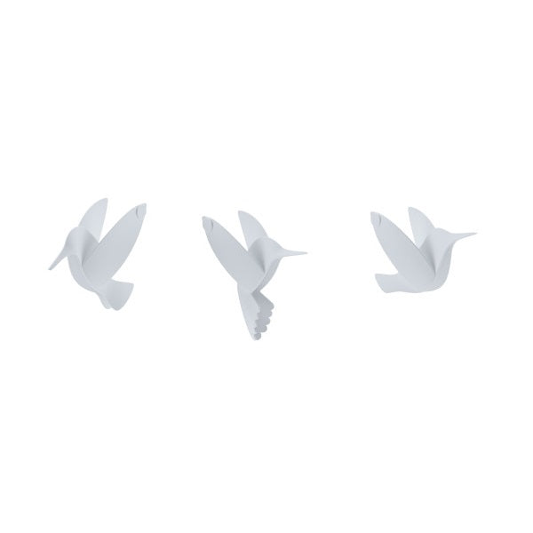 Hummingbird Wall Decor - White