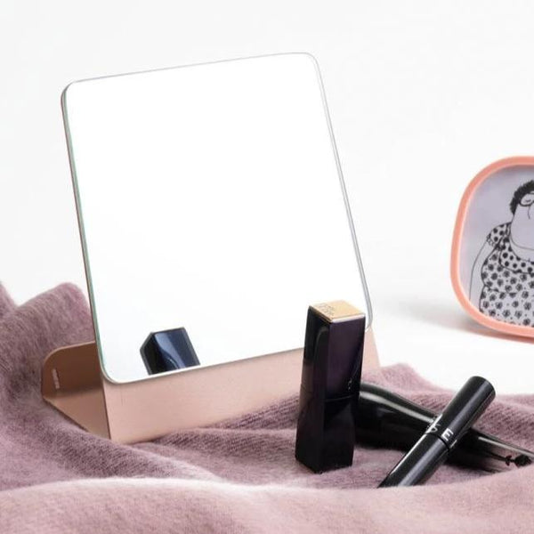 Halo Desk Mirror - Cloud Pink