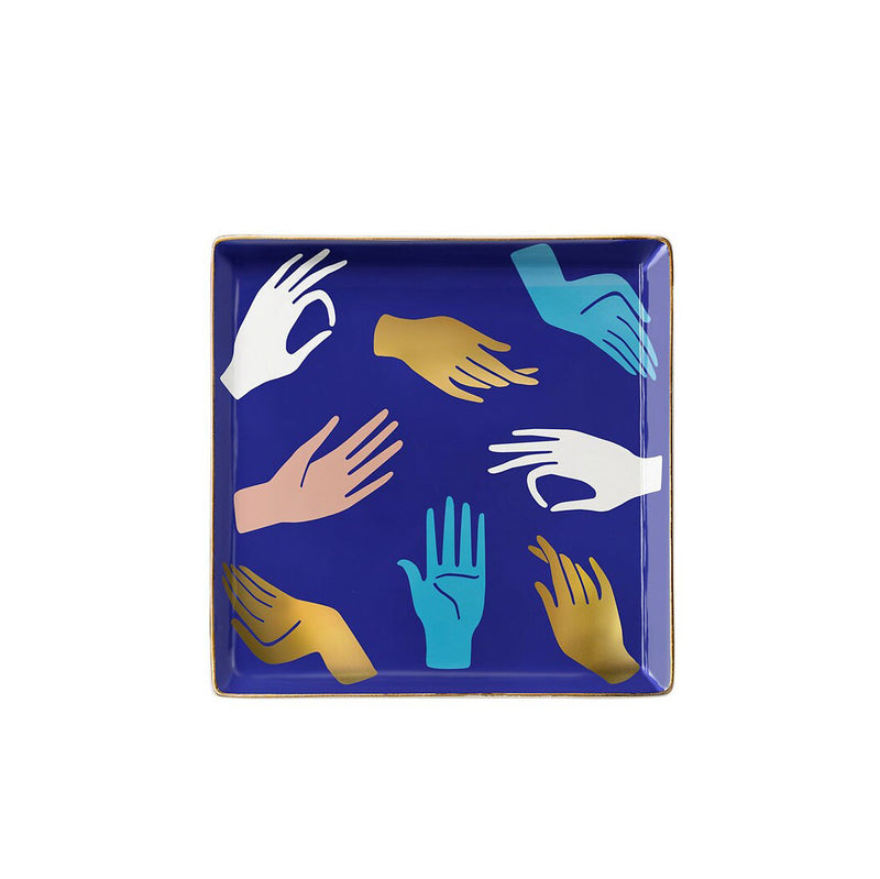 Ceramic Catchall Tray - Hamsa Blue