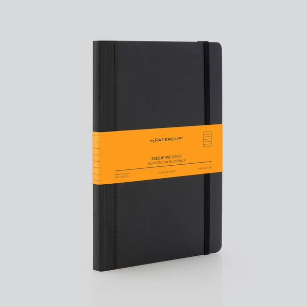 Hardcover Notebook, Executive Series - Black