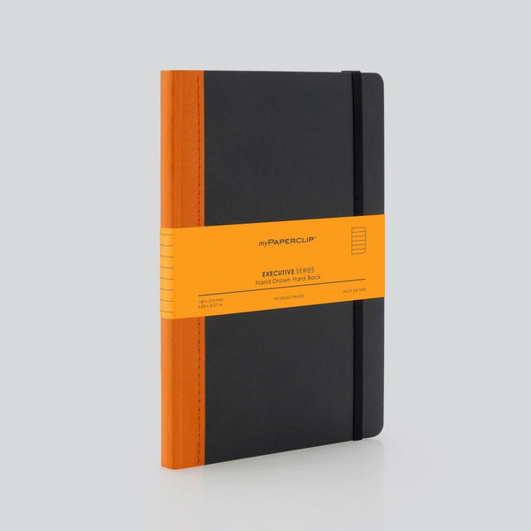 Hardcover Notebook, Executive Series - Orange