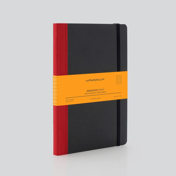 Hardcover Notebook, Executive Series - Red