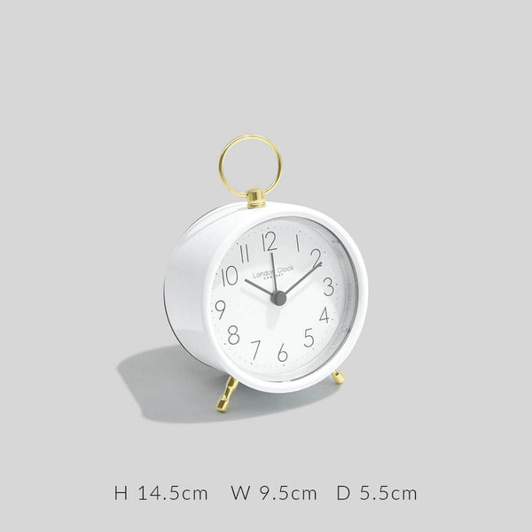 Hoop Alarm Clock - White