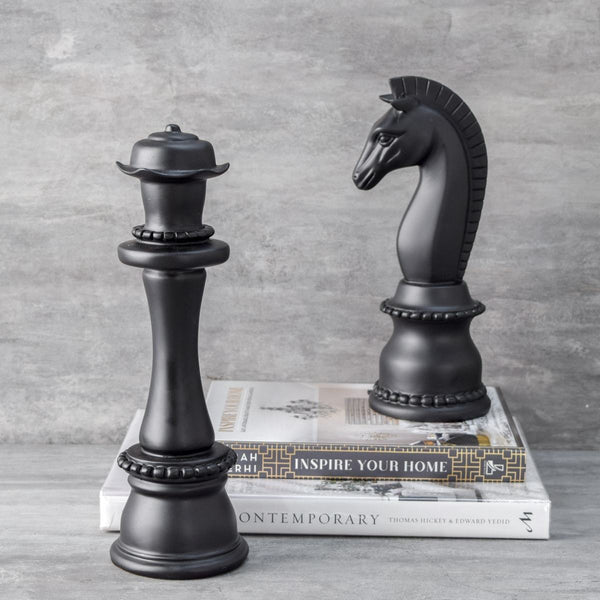 Horse & Camel Chess Piece Sculptures, Set of 2