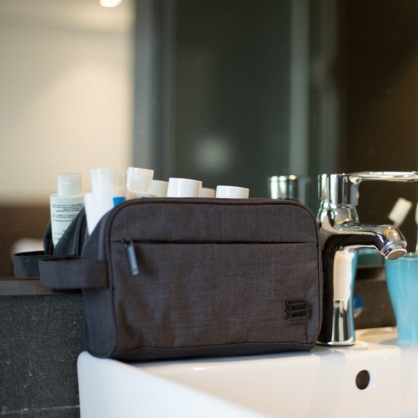 Belmont Toiletry Bag - Heather Black