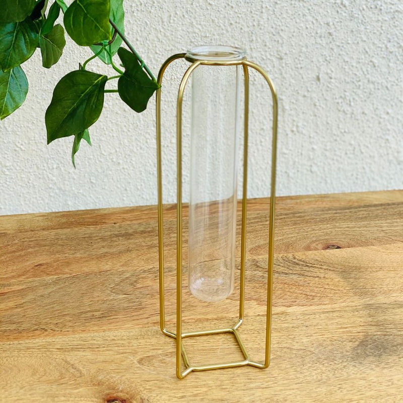 Cora Test Tube Vase Medium - Gold