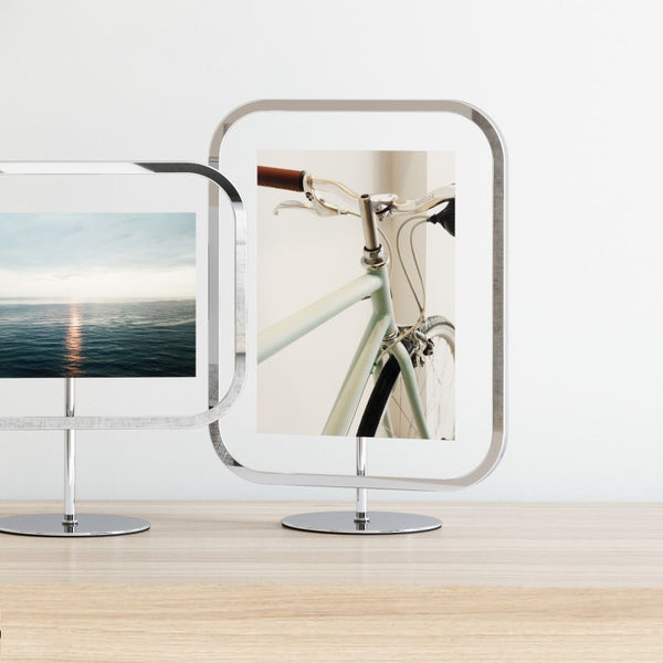 Infinity Sqround Photo Frame Large - Chrome
