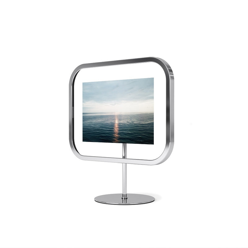 Infinity Sqround Photo Frame Medium - Chrome