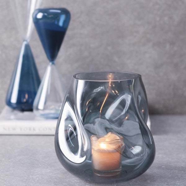 Ivaan Glass Vase - Blue