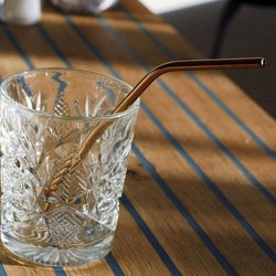 Copper Plated Cocktail Straws