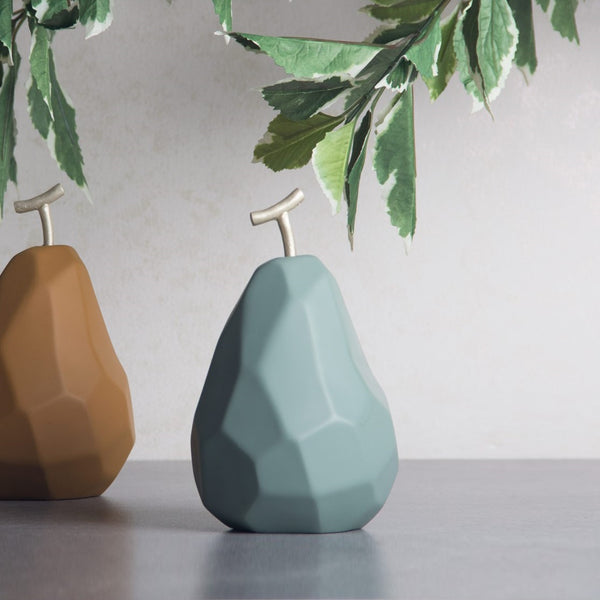 Origami Faceted Pear - Jade Green