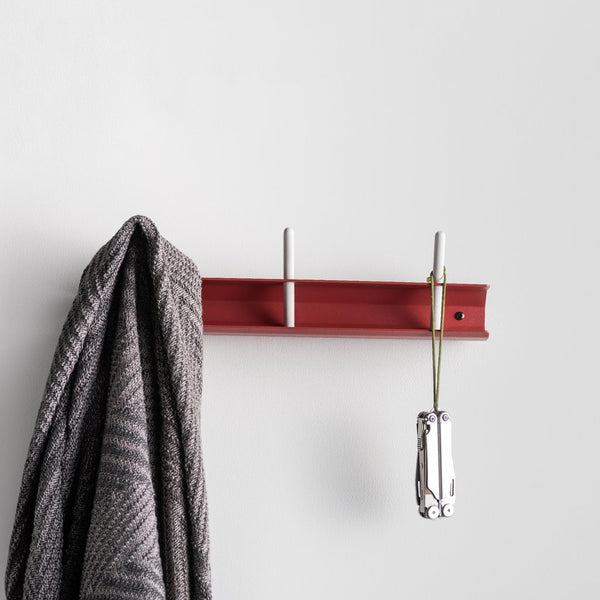 Jaw Wall Hooks - Brick Red