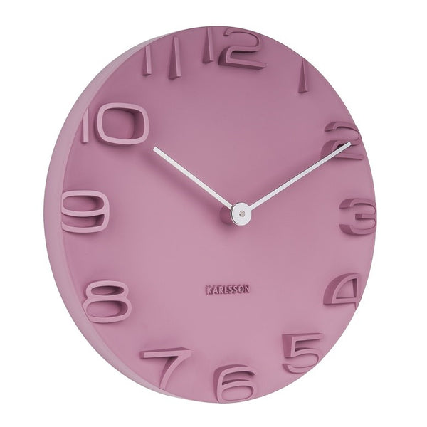 On the Edge Wall Clock - Pink