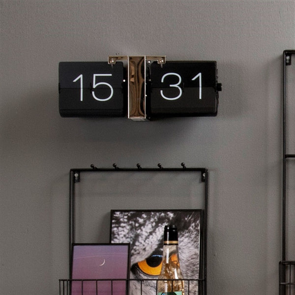Caseless Flip Clock - Black Chrome