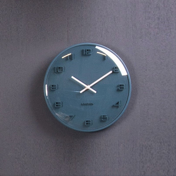 Elevated Dome Wall Clock - Blue