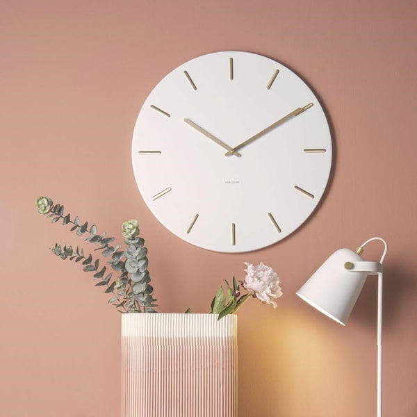 Charm Wall Clock Large - White