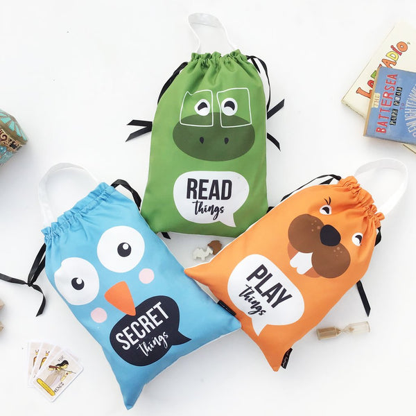 Kids Toy Bags, Set of 3 - Animal Wonder