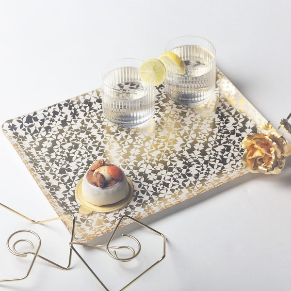 Patterned Acrylic Tray - Kazan Gold