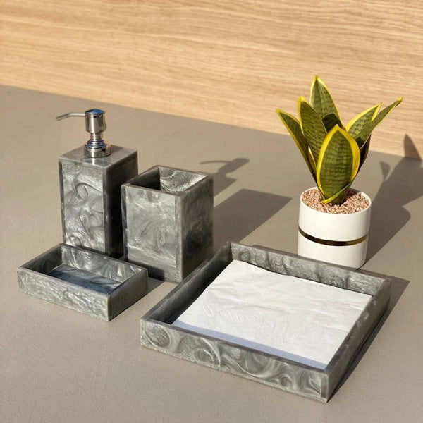 Lava Bathroom Set - Ash Grey