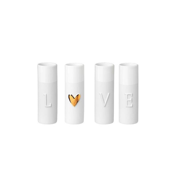 Love Mini Vases, Set of 4