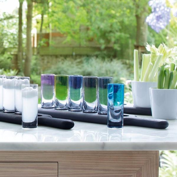 Black Beech Paddle Vodka Glass Set - Modern Quests